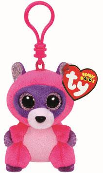 Roxie Clip Waschbär pink/lila - Anhänger  8,5 cm