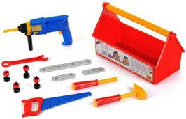 Werkzeugkasten mit Bohrmaschine