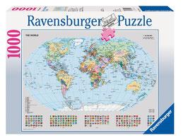 Politische Weltkarte 1000 Teile