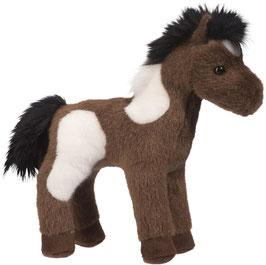 Pferd Aztec - dunkelbraun + weiß