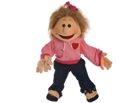 Paula Mädchen mit Herzchen Jacke - 65cm.
