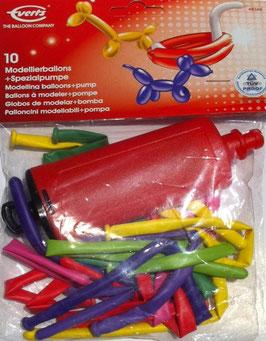 10 Modellierballons mit Pumpe