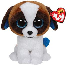 Duke Hund weiss + braun 15 cm