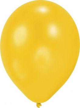 10 Ballons gelb