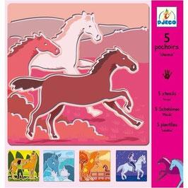 Schablone Pferde