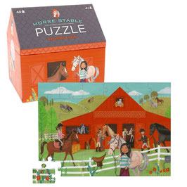 Puzzle Pferdestall - 48 Teile