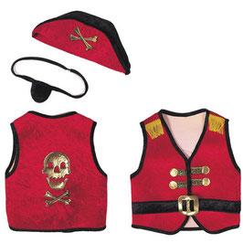 Piratenset rot L 6-8 Jahre