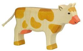 Holztiger Kuh, braun - stehend
