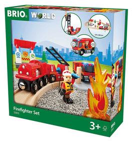 Bahn Feuerwehr Set-  Firefighter Set