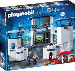 Polizei-Kommandozentrale mit Gefängnis