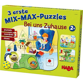 3 erste Mix-Max-Puzzle Bei uns uns zu Hause