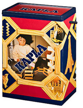 Kapla Holzbox 200 Stück Holzbausteine
