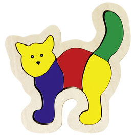 Katze Einlegepuzzle