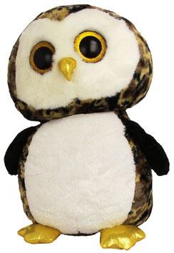 Owliver Eule schwarz braun - 42 cm