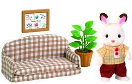Schokoladenhasen Vater mit Sofa