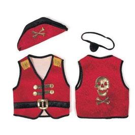 Piratenset rot M 4-6 Jahre