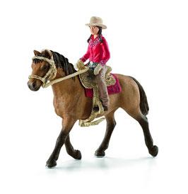 Westernreiterin - mit Pferd