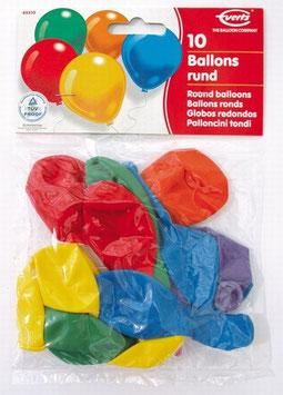 10 Ballons / Farblich sortiert