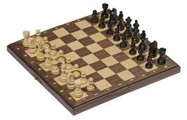 Schachspiel  in Holzklappkassette - magnetisch