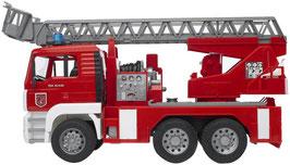 Man Feuerwehr mit Drehleiter, Wasserpumpe und Sound Modul