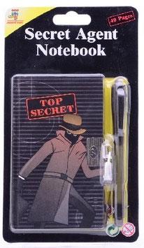Agenten Stift mit Notizbuch