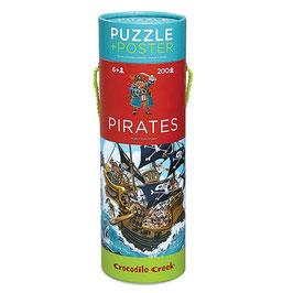 Piraten Puzzle mit Plakart