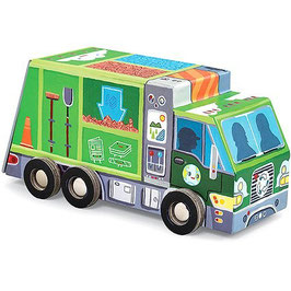 Puzzle Müllauto - Recycle Truck