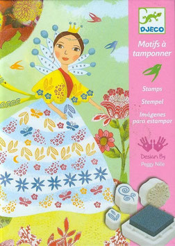 Stempelbild Blumenmädchen