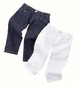 Hosen Set, Jeans blau/weiß, 2x - 56-50cm