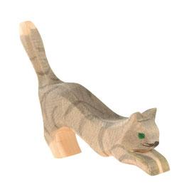 Katze springend