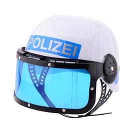 Polizeihelm Visier - Blau Weiss