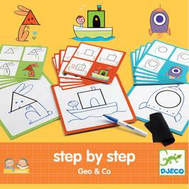 Geo und Co. - Zeichentafeln Schritt für Schritt - Step by Step