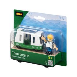 Straßenbahn Wagen mit Figur