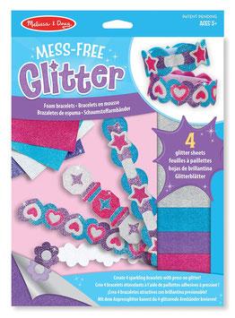 Glitter ohne Kleckern - Schaumstoff-Armbänder