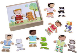 Holzpuzzle Kinder der Welt