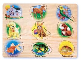 Sound Puzzle Pets Tiere Haustiere
