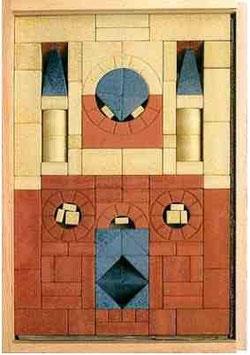 Grundkasten Nr. 6 (105 Steine) - 105 Steine im Holzkasten
