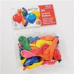 30 Ballons- farblich sortiert
