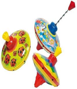 Kreisel aus Blech:  Marienkäfer, altes Spielzeug oder Farben Motiv