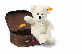 Teddybär  Lotte  - 28cm weiß mit Koffer