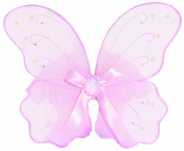 Trullala Feenflügel mit Schleife - rosa