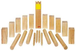 Kubb Wikinger schach im Beutel gelber König