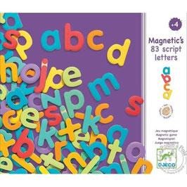 Magnete - 83 kleine Buchstaben aus Holz