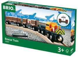 Diesellok mit Güterwaggons