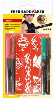 Tattoo Marker mit Schablonen