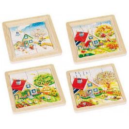4 Schichten Puzzle Jahreszeiten