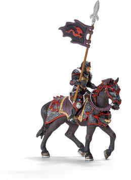 Drachenritter zu Pferd mit Lanze