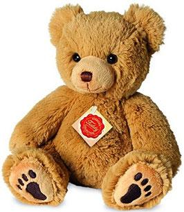 Teddy gold mit Fußtasten - 23cm
