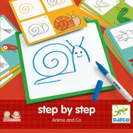 Step-by-Step Malen - Tiere und Co.