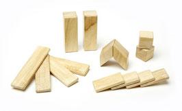 Holzset natur 14 teilig - Magnetische Holzbausteine